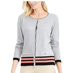 Karen Scott  Button-Up Long Sleeve Cardigan
